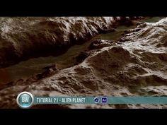 Cinema4D Displacements - Alien Planet Design - YouTube