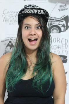 Loja banggood recebudos da lojabanggood dani rubim blogueira youtuber greenhair turquoise hair  Canal GEEKBTUTORIAIS - DANI RUBIM  Bone star wars stormtropper