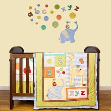 Living Textiles Baby Play Date 5-Piece Crib Bedding Set