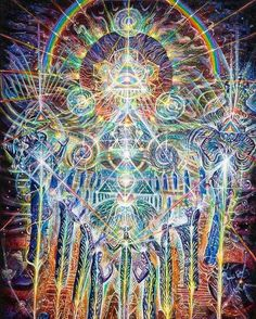 Visionary Art Print featuring the painting House Of Many Mansions by Kuba Ambrose Psychedelic Art, Alex Grey, Art Visionnaire, Psy Art, Art Graphique, Visionary Art, Sacred Art, Fractal Art, Sacred Geometry