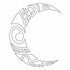 > Moon tattoo- mystery or magic? Moon Drawing, Mandala Drawing, Mini Tattoos, Tattoo Drawings, Art Drawings, Tattoo Sonne, Maori Patterns, Maori Designs, Mandala Stencils
