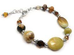 Gemstone Bracelet - Amazon Jasper and Crystal Ginger
