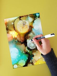 Original alcohol ink art by JulieMarieDesign.