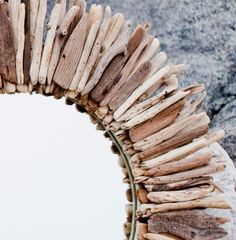 28 Double Layer Round Driftwood Mirror by MaderaDelMar on Etsy