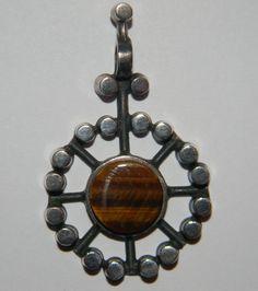 Jorma Laine Kultateollisuus Ky, pendant, silver & tiger eye