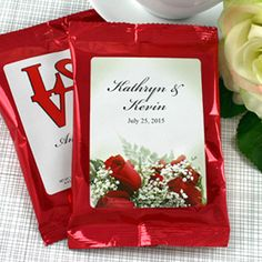 Personalized Coffee Favors - Wedding Favors