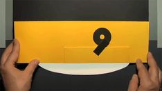 Numéro, by Marion Bataille, a child's pop-up number book in which the integers can be read backwards & forwards: 9 & 10