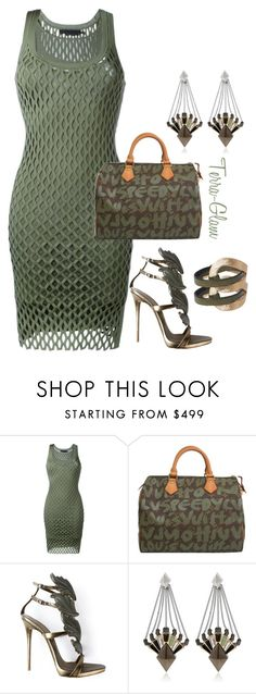 """""""Olive Oh My!"""" by terra-glam ❤ liked on Polyvore featuring Alexander Wang, Louis Vuitton, Giuseppe Zanotti and Eddie Borgo"""