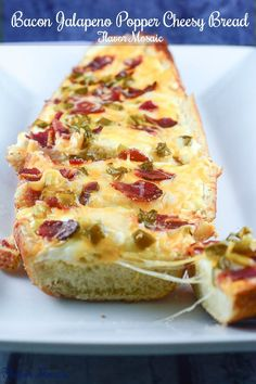 Bacon Jalapeño Popper Cheesy Bread - #Ad #appetizer #tailgating @hfrecipes