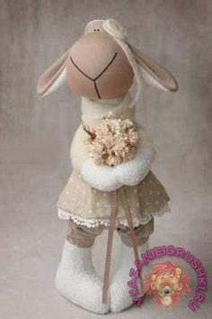 Тильда-разнообразие +выкройки! Заяц Кукла Овечка Кот Улитка - ТИЛЬДА