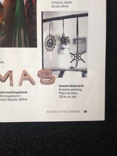 Place de Bleu, Christmas Decorations in danish Magazine ALT, nov 2014