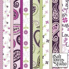 Salt Town Studio Paisley and Flower papers