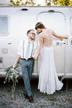 Wild Industrial Wedding Inspiration by Jenna Henderson & Cedarwood Weddings | SouthBound Bride