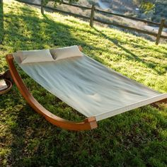 How comfy does this look? Find it at the Foundary - Island Bay Wave Rocker Hammock