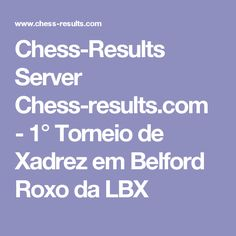 Chess-Results Server Chess-results.com - 1° Torneio de Xadrez em Belford Roxo da LBX