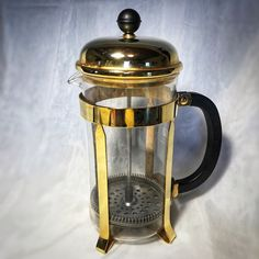 Vintage BODUM French Press Coffee Maker Rare Copper Plated Stainless Steel  | eBay