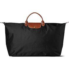 LONGCHAMP Le Pliage large travel bag in black (Black