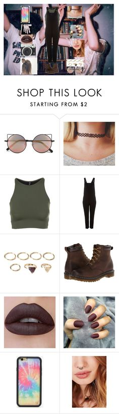 """Untitled #899"" by werewolflover90 on Polyvore featuring Linda Farrow, Onzie, VILA, Forever 21, Dr. Martens, Wildflower and Zoya"