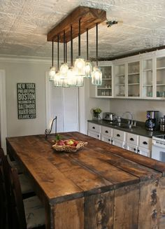 32 Simple Rustic Homemade Kitchen IslandsLove the rustic table and beamwork   Kitchen  Remodel  Light  . Rustic Lighting Dining Room. Home Design Ideas