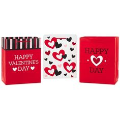 Valentine's Day Medium Gift Bags, Pack of 3