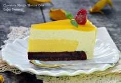 Gluten-free mousse cake with mango and coconut mousse Sin Gluten, Gluten Free, Bolo Original, Romania Food, Coconut Mousse, Mousse Cake, Food Cakes, Cake Recipes, Caramel