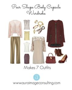 Do you need help shopping for your Pear Shaped Body? Here is a visual summary of what you should look for! Pear Shape Fashion, Pear Shaped Outfits, Triangle Body Shape, Pear Shaped Women, Pear Body, Capsule Wardrobe, Capsule Outfits, Wardrobe Basics, Wardrobe Staples