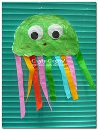 I think I would add the letter J onto the jellyfish. The kids could color with crayons or markers.