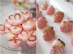 Goldene und Rosa Traumhochzeit Inspiration Hochzeit Cupcakes Goldene und Rosa Traumhochzeit Inspiration