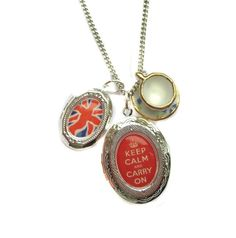 Britannia Union Jack and Tea Cup Keep Calm Carry On by hoolala, $44.00