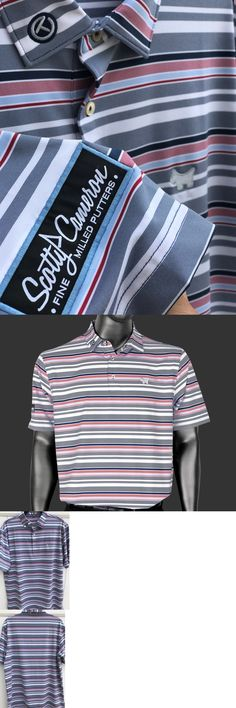 Shirts Tops and Sweaters 181138: Scotty Cameron Peter Millar Dog Wheaton Striped Tech Polo Golf Shirt Small S -> BUY IT NOW ONLY: $159 on eBay!