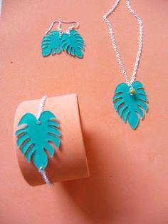 DIY parure tropicale en plastique fou | Shrink plastic tropical jewellery set - Kimin Creations