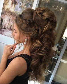 hair down wedding hairstyle,braid hairstyle #weddinghair #bridalhair #weddinghairstyle #hairinspiration #hairideas