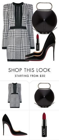 """Untitled #5141"" by beatrizvilar ❤ liked on Polyvore featuring Balmain, 3.1 Phillip Lim, Christian Louboutin and NYX"