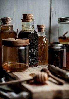 honey, food, and rustic kép