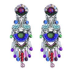 Ayala Bar Aurora Princess Tiara Earrings ($182) ❤ liked on Polyvore featuring jewelry, earrings, ayala bar jewelry, earrings jewellery, ayala bar, ayala bar earrings and earring jewelry