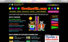 This is a website that is perfect for children that need a little extra help in math. It is filled with games and activities that allow students to become more confident in all areas of math.  www.coolmath.com