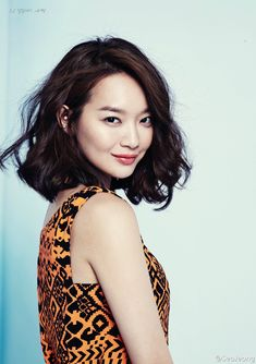 Shin Min Ah.  Gorgeous hair, hopefully my hair will grow out to look like this.