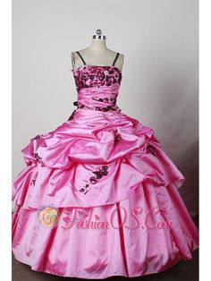 Discount Ball Gown Little Girl Pageant Dresses Spaghetti Straps Floor-Length Appliques- $145.36   | Big Fashion Show dresses for kids