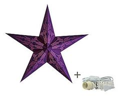 Abat-jour avec câble TANISHAfibre de coton, violet - H60
