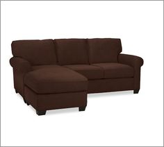 Buchanan Roll Arm Upholstered Sofa With Reversible Chaise Sectional