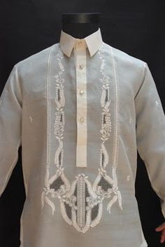Traditional Filipino barong shirts for the grooms men. Wedding Tux, July Wedding, Wedding Wishes, Wedding Ceremony, Dream Wedding, Traditional Dresses, Traditional Wedding, Cultura Filipina, Barong Tagalog
