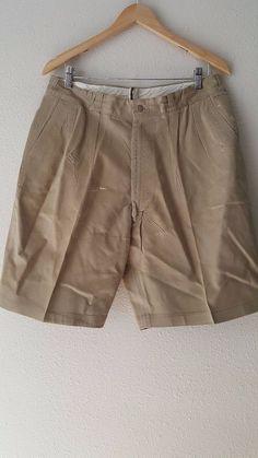 Khaki Uniform Shorts Size 36 Cotton Vintage 50s 8405-292-9373 Twill Military