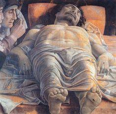 """""""Cristo morto"""" di Andrea Mantegna (1470-1480), Pinacota di Brera, Milano - foreshortening"""
