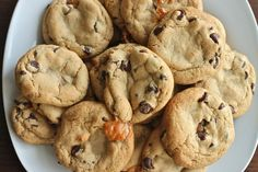 Salted Caramel Chocolate Chip Cookies Recipe Desserts, Afternoon Tea with…