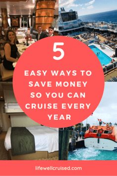 If you think cruising is expensive and that you can't afford to cruise, much less cruise every year - there are definitely ways and I've done it! Here are 5 easy tips to help you actually save the money and manage a yearly cruise in your budget. Cruise Packing Tips, Cruise Travel, Cruise Vacation, Disney Cruise, Disney Trips, Disney Travel, Best Vacation Destinations, Best Vacation Spots, Vacations