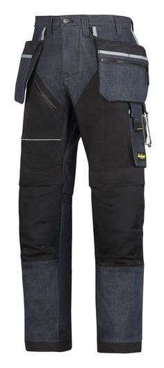 They are here!!!! One of the #newgenerationtrousers is the tough RuffWork Denim, Work Trousers+ with Holster Pockets. These hardwearing work trousers featuring reinforced design with amazing fit and functionality. Cordura® 1000 reinforced knee protection, built-in ventilation and stretch gusset in crotch for long-lasting comfort at work. - Snickers Workwear Artnr. 6204