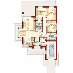DOM.PL™ - Projekt domu DA Hipokrates CE - DOM DS1-75 - gotowy koszt budowy House Layout Plans, My House Plans, House Layouts, Beautiful House Plans, Beautiful Homes, Floor Plans, House Design, How To Plan, Houses