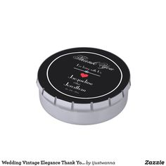 Wedding Vintage Elegance Thank You Guest Favor Candy Tin. Created by artist RjFxx *All rights reserved. #Wedding #CustomThankYouGuestFavor Jelly Bean Flavors, Butter Popcorn, Candy Favors, Gift Wrapping Supplies, Toasted Marshmallow, Free Candy, Wedding Candy, Daiquiri, Chocolate Pudding