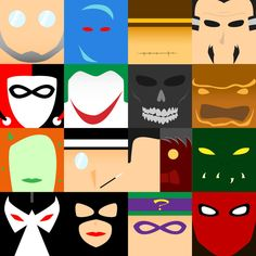 The reason I chose this picture is for two reasons. The first is that because of the simplicity of this collage. Even though simple shape and colors are used in this collage you can still tell what each one represents. This is inspiring for my speaker because this show the more simple the better.                        Also this helps me with how i can represent the idea or theme of Villains and Heroes in simple way.