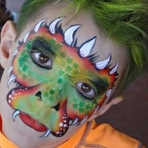 Stephanie's Face Painting » Dragons, snakes & dinosaurs